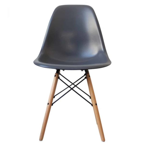 Lyon Side Chair Smoke Grey DeFrae Contract Furniture Eiffel Style Side Chair Eames