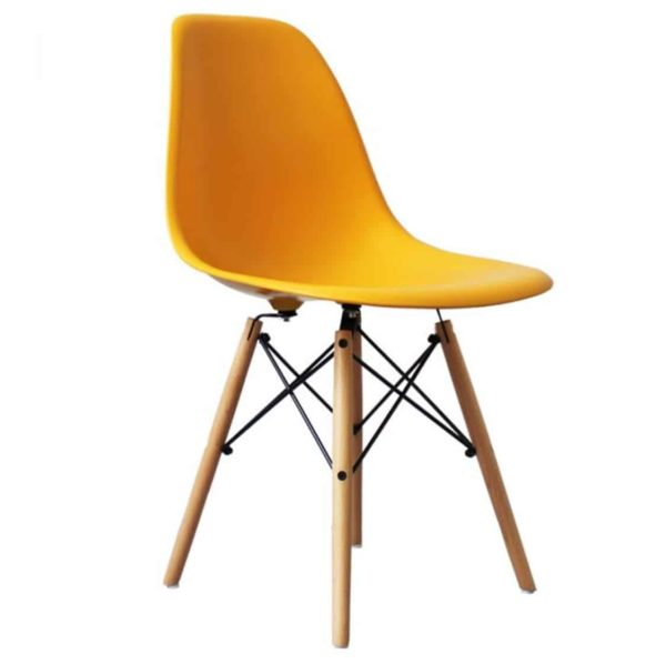 Lyon Side Chair Mustard Yellow DeFrae Contract Furniture Eiffel Style Side Chair Eames