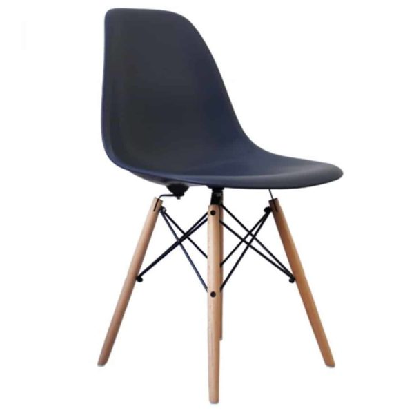 Lyon Side Chair Navy Blue DeFrae Contract Furniture Eiffel Style Side Chair Eames