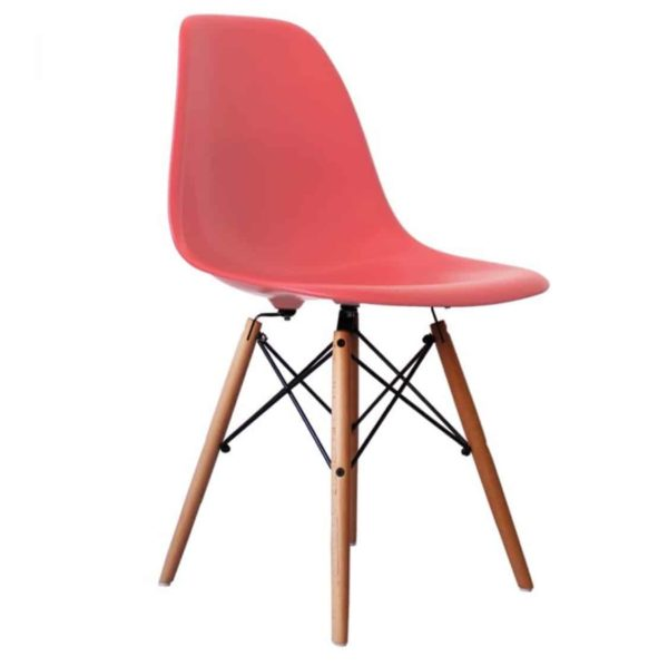 Lyon Side Chair Pink DeFrae Contract Furniture Eiffel Style Side Chair Eames