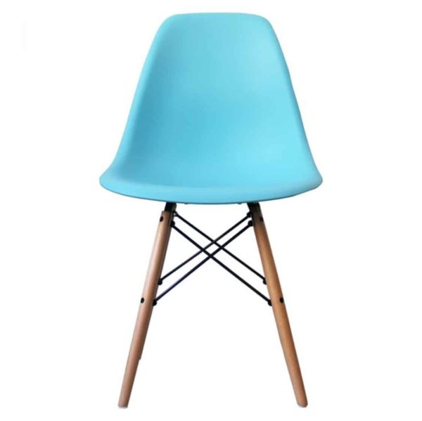 Lyon Side ChairSky Blue DeFrae Contract Furniture Eiffel Style Side Chair Eames