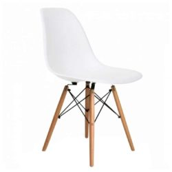 Lyon Side Chair White DeFrae Contract Furniture Eiffel Style Side Chair Eames