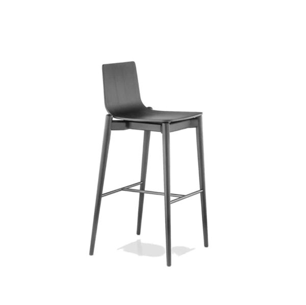 Malmo bar stool ashwood DeFrae Contract Furniture Pedrali black stain 2