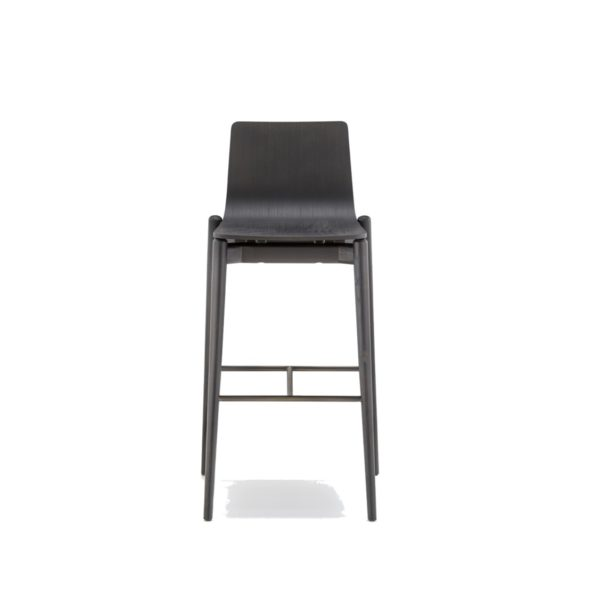 Malmo bar stool ashwood DeFrae Contract Furniture Pedrali black stain