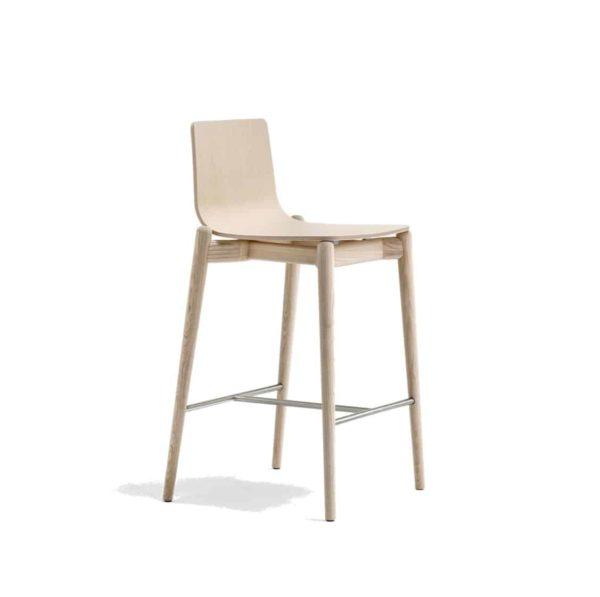 Malmo bar stool ashwood DeFrae Contract Furniture Pedrali natural 2