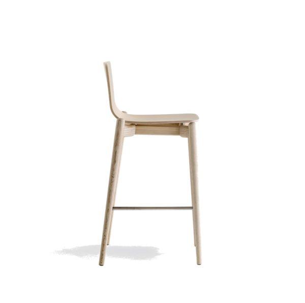 Malmo bar stool ashwood DeFrae Contract Furniture Pedrali natural 3