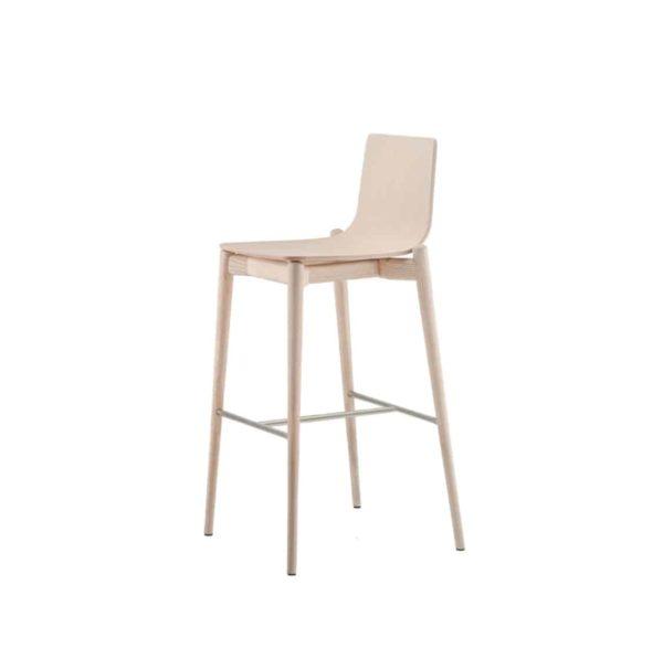 Malmo bar stool ashwood DeFrae Contract Furniture Pedrali natural 4