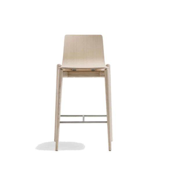 Malmo bar stool ashwood DeFrae Contract Furniture Pedrali natural