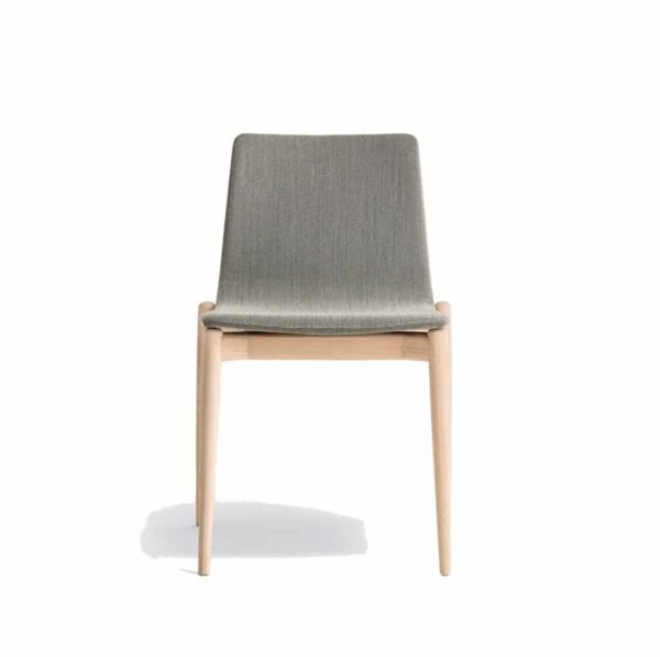 Malmo side chair ashwood DeFrae Contract Furniture Pedrali Natural Upholstered