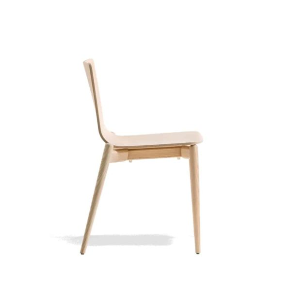 Malmo side chair ashwood DeFrae Contract Furniture Pedrali Side Natural