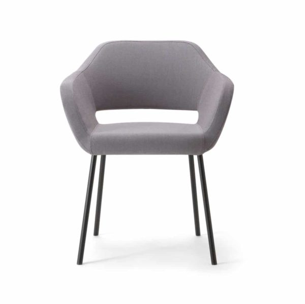 Manu 04 Armchair DeFrae Contract Furniture Metal Legs
