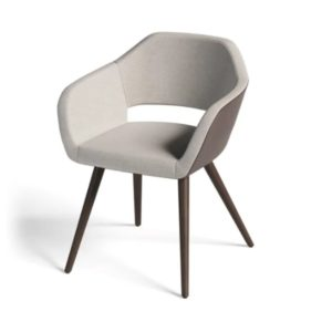 Manu 04 Armchair DeFrae Contract Furniture Wooden Legs
