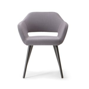 Manu 04 Armchair DeFrae Contract Furniture Wooden Legs Head On