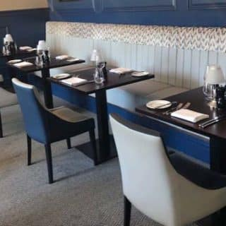 Restaurant furniture by DeFrae Contract Furniture at Marco Pierre White Folkestone