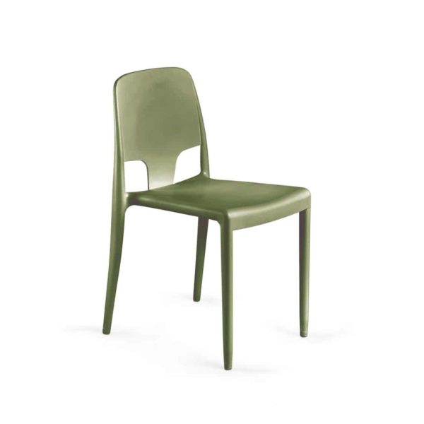 Margo Pop Chairs Stackable DeFrae Contract Furniture Green