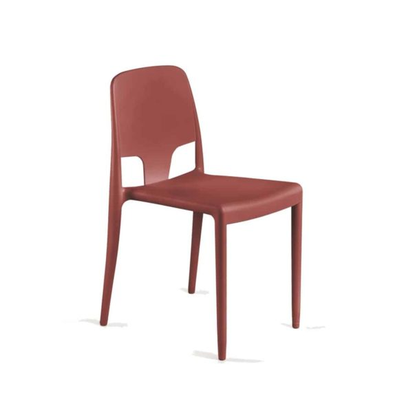 Margo Pop Chairs Stackable DeFrae Contract Furniture Red