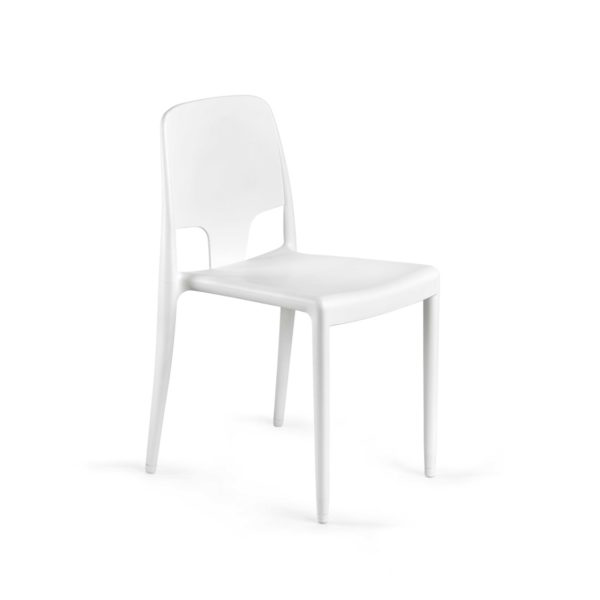 Margo Pop Chairs Stackable DeFrae Contract Furniture White