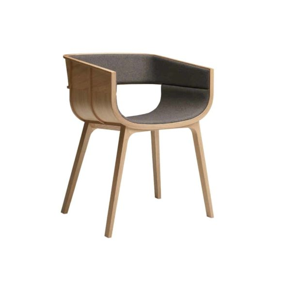 Martime Armchair Horm at DeFrae Contract Furniture Natural Oak Upholstered Seat