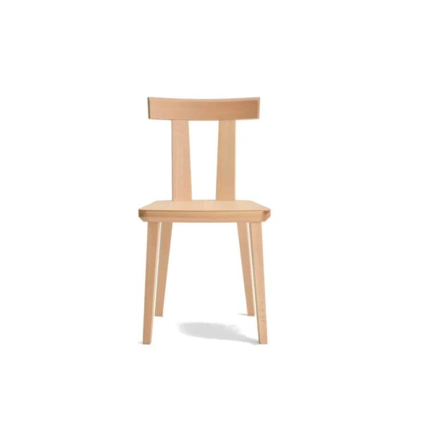 Milano Side Chair Wood Chair DeFrae Contract Furniture Sipa Beech wood stain