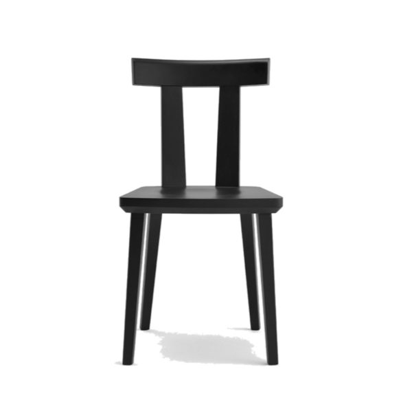 Milano Side Chair Wood Chair DeFrae Contract Furniture Sipa Front View