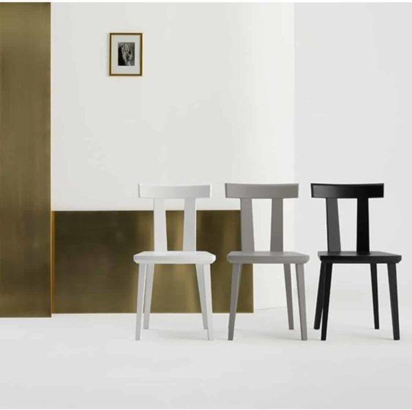 Milano Side Chair Wood Chair DeFrae Contract Furniture Sipa In Situ