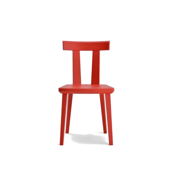Milano Side Chair Wood Chair DeFrae Contract Furniture Sipa Red Stain