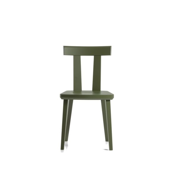 Milano Side Chair Wood Chair DeFrae Contract Furniture Sipa Sage Stain