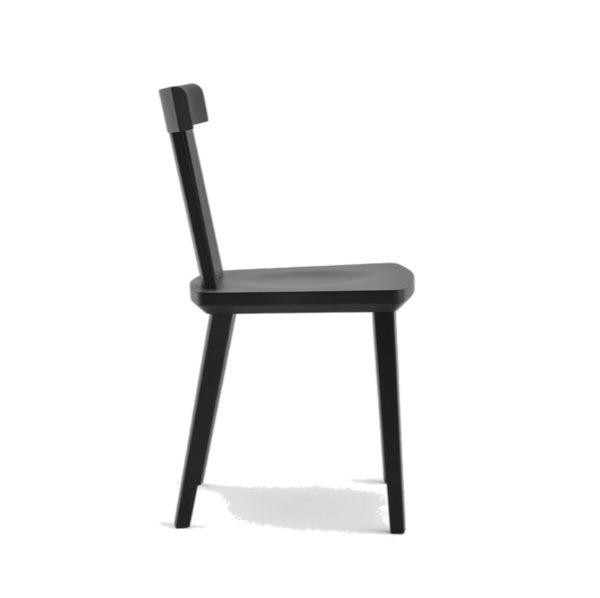 Milano Side Chair Wood Chair DeFrae Contract Furniture Sipa Side View