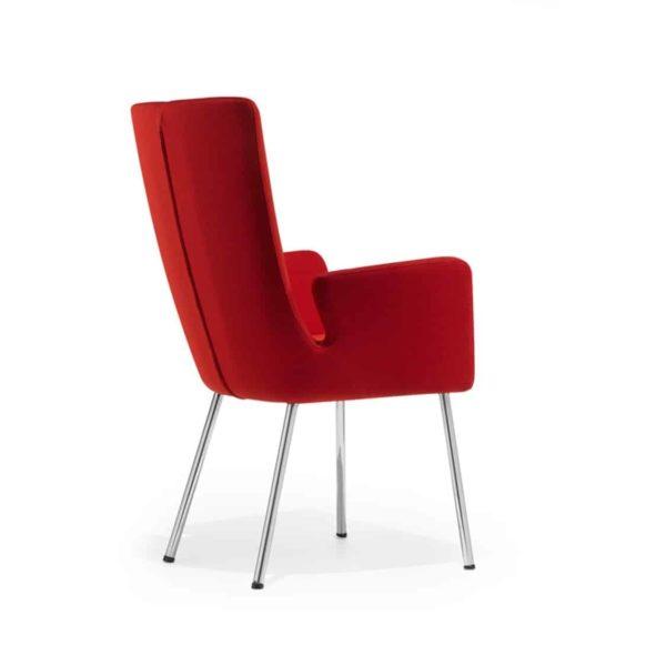 Milas Armchair Metal Legs DeFrae Contract Furniture