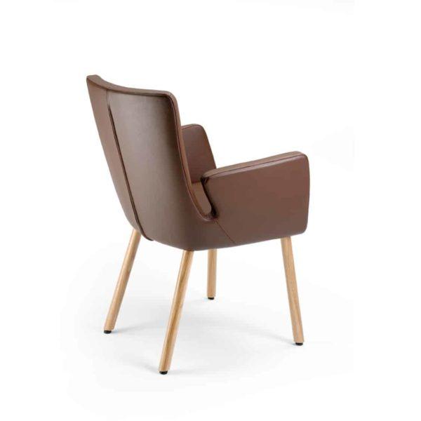 Milas Armchair Wooden Legs DeFrae Contract Furniture