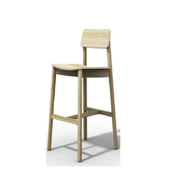 Mine Bar Stool KL82 Wood DeFrae Contract Furniture beech wood