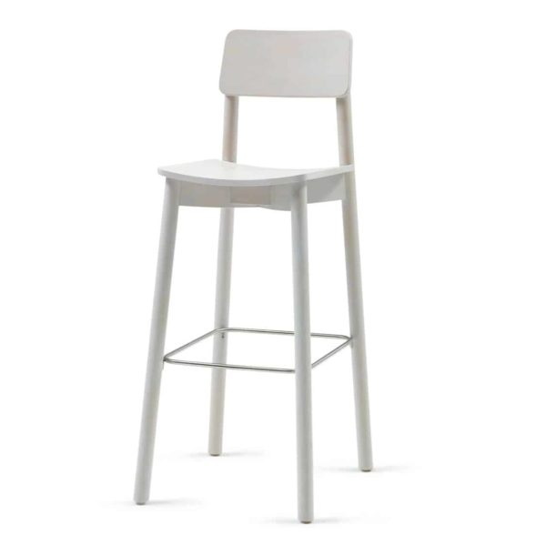 Mine Bar Stool KL82 Wood DeFrae Contract Furniture white wash