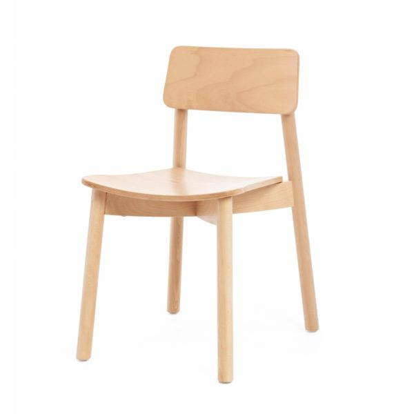 Mine Side Chair Wooden Upholstered Seat DeFrae Contract Furniture