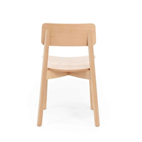 Mine Side Chair Wooden Upholstered Seat DeFrae Contract Furniture Back