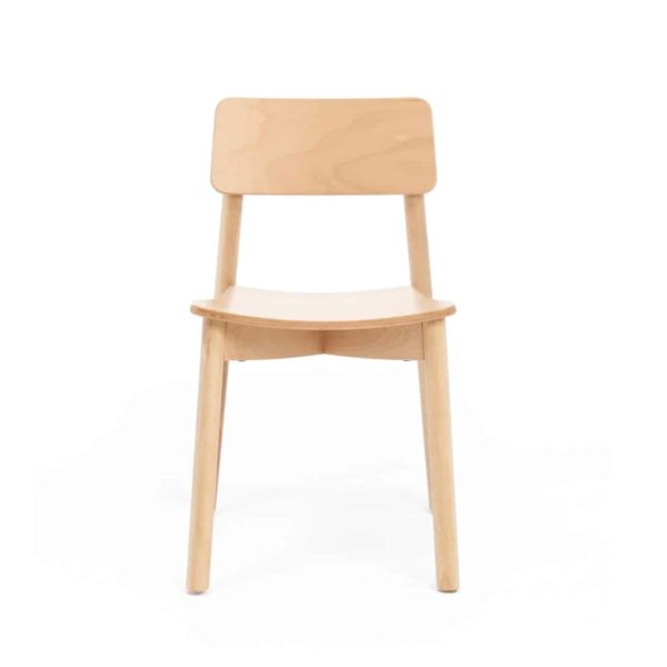 Mine Side Chair Wooden Upholstered Seat DeFrae Contract Furniture Front View