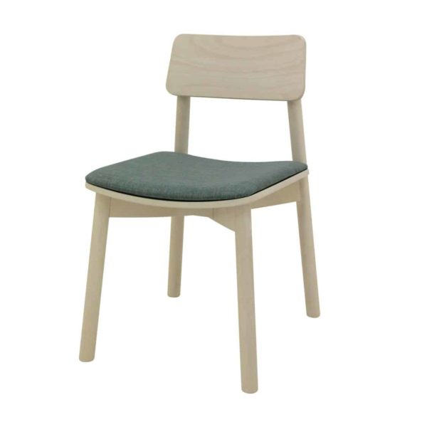 Mine Side Chair Wooden Upholstered Seat DeFrae Contract Furniture Upholstered Seat