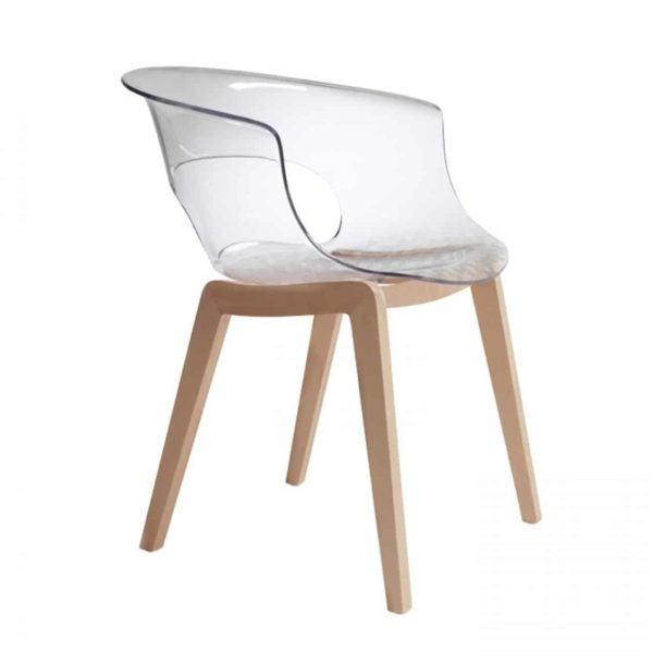 Miss B Aftershock Armchair Transparent Side
