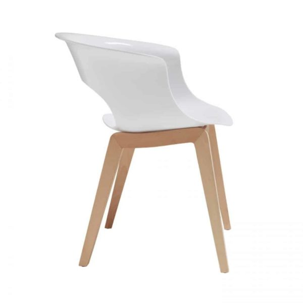 Miss B Aftershock Armchair White side