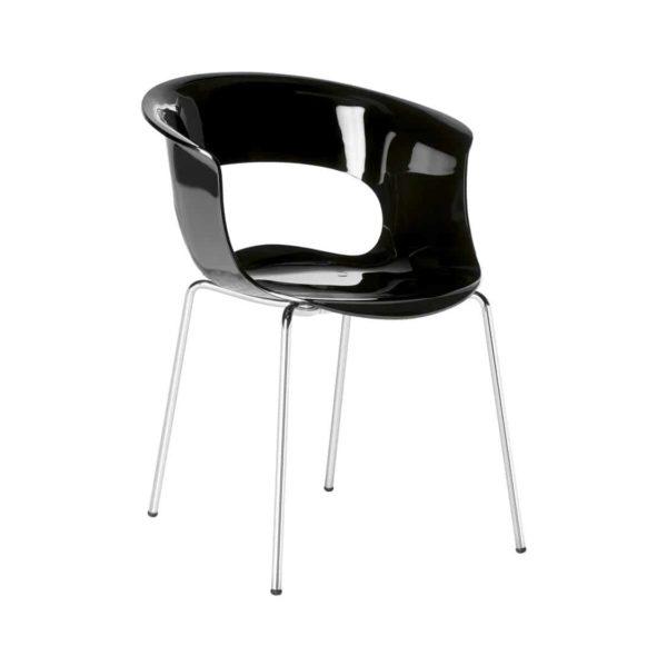 Miss B Armchair DeFrae Contract Furniture black