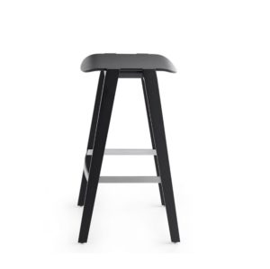 Mixis Bar Stool Crassevig at DeFrae Contract Furniture Black