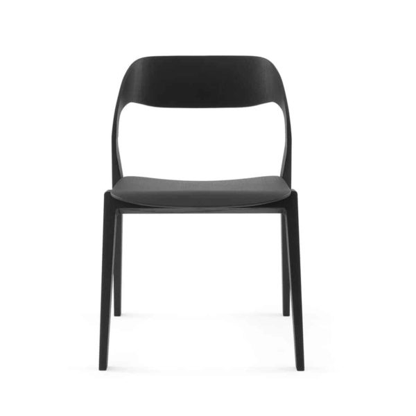 Mixis Side Chair RS Crassevig at DeFrae Contract Furniture Black Front View
