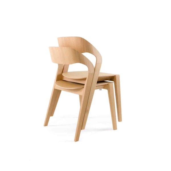 Mixis Side Chair RS Crassevig at DeFrae Contract Furniture Oak Stackable