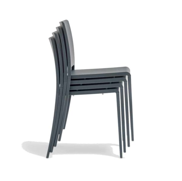 Mya 700 Side Chair Pedrali at DeFrae Contract Furniture Black Stackable