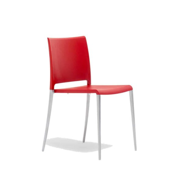 Mya 700 Side Chair Pedrali at DeFrae Contract Furniture Red