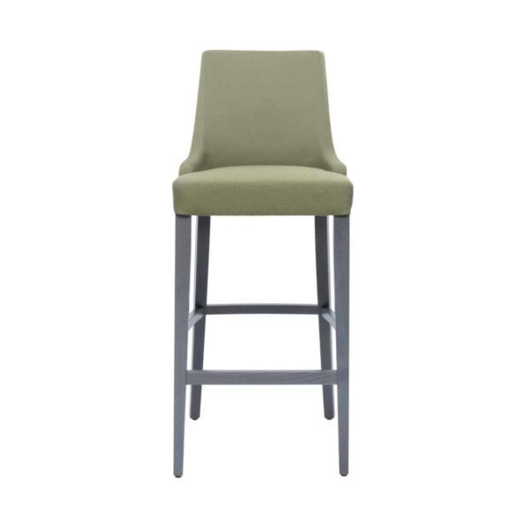 Nancy Bar Stool SG01 DeFrae Contract Furniture Base 10 High Back Front View