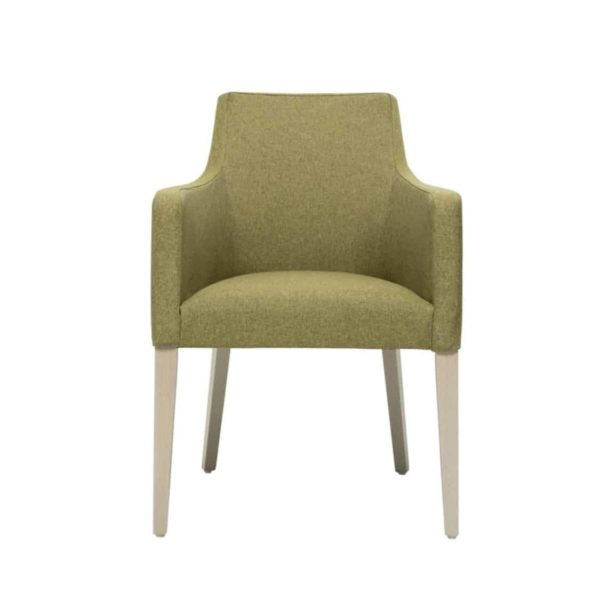 Nancy P001 Armchair DeFrae Contract Furniture Base 10 Front View
