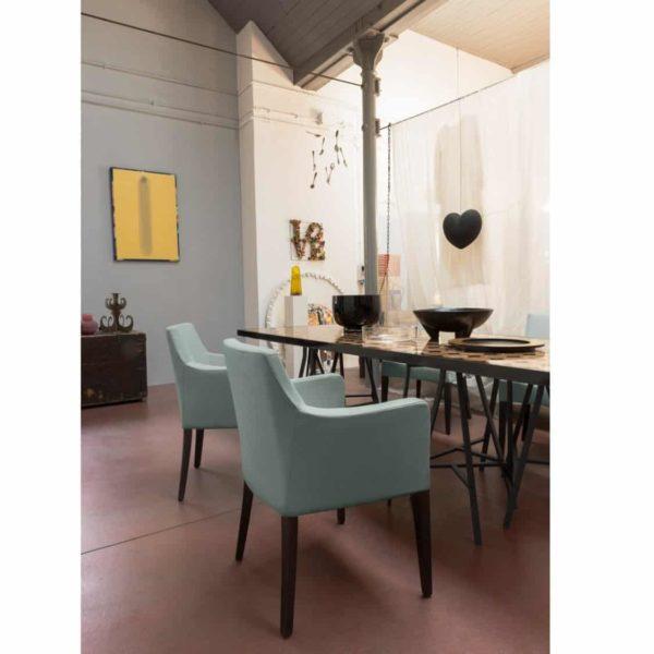 Nancy P001 Armchair DeFrae Contract Furniture Base 10 In Situ