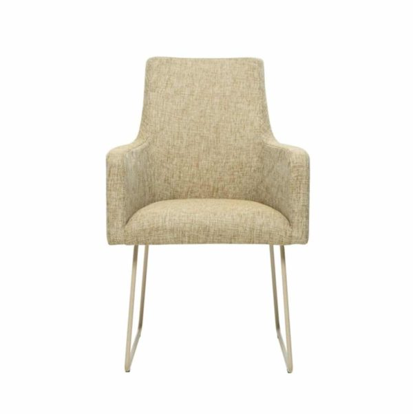 Nancy P001 Armchair DeFrae Contract Furniture Base 20 Sled Base Front View