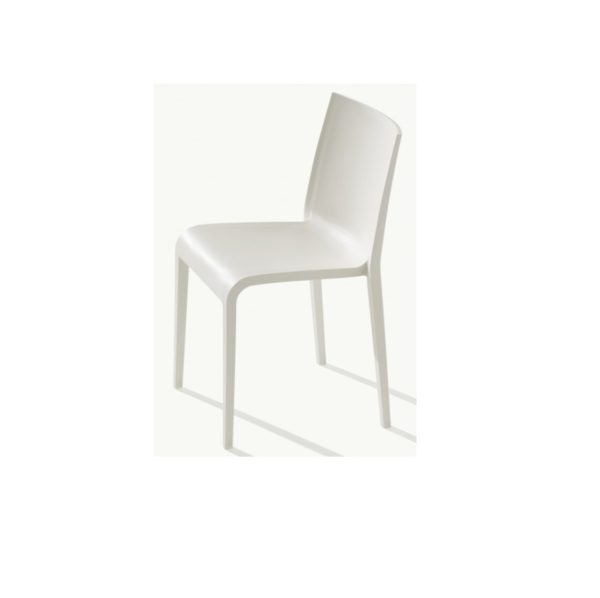 Nassau 533 Side Chair DeFrae Contract Furniture Pure White