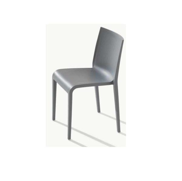 Nassau 533 Side Chair DeFrae Contract Furniture Squirrel Grey